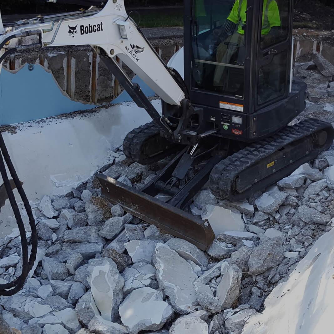 Mack Land Landscape Architects Wauconda Compact Excavator