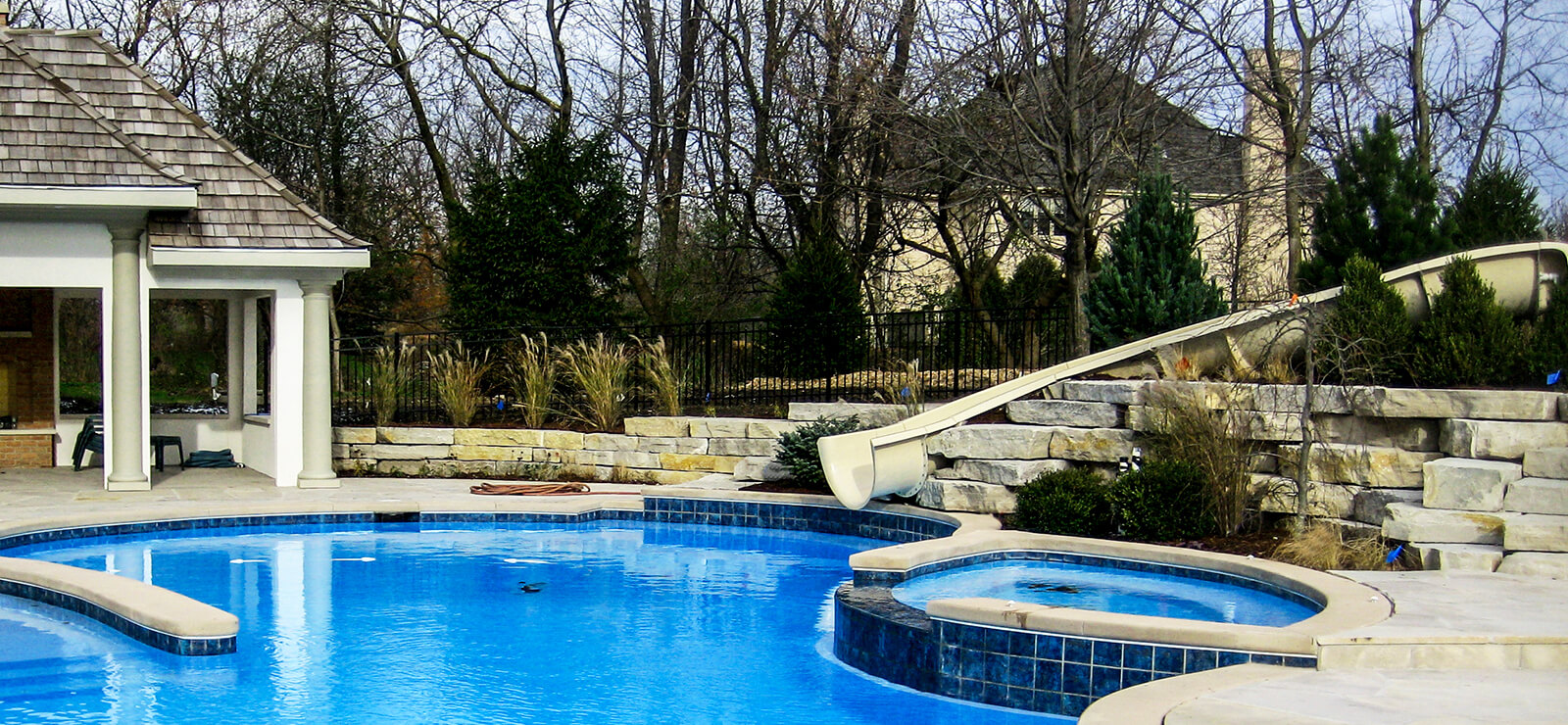 Mack Land Landscape Architects Wauconda Denver Hardscape with Pool