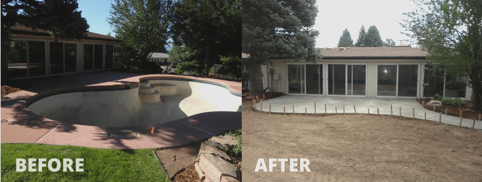 Mack Land LLC - Lakewood, CO – Pool removal