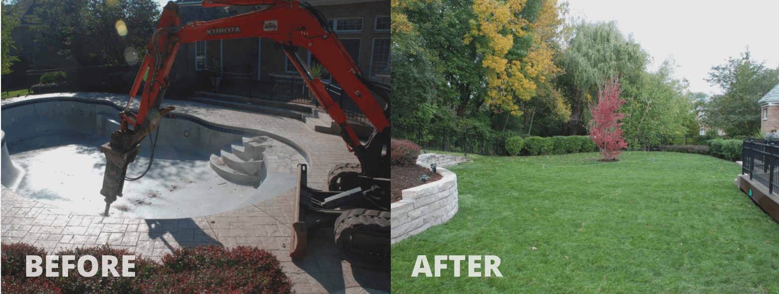 Mack Land LLC - Long Grove, IL – Pool removal