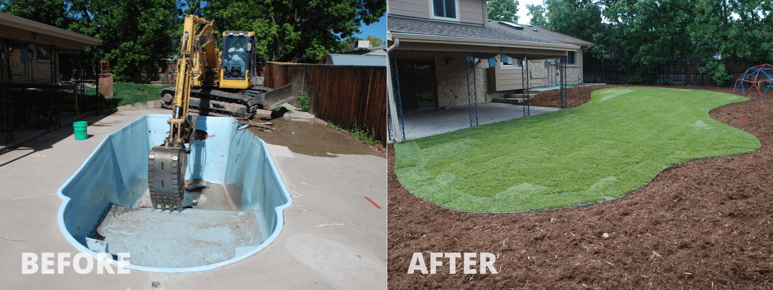 Mack Land LLC - Littleton, CO – Fiberglass Pool removal