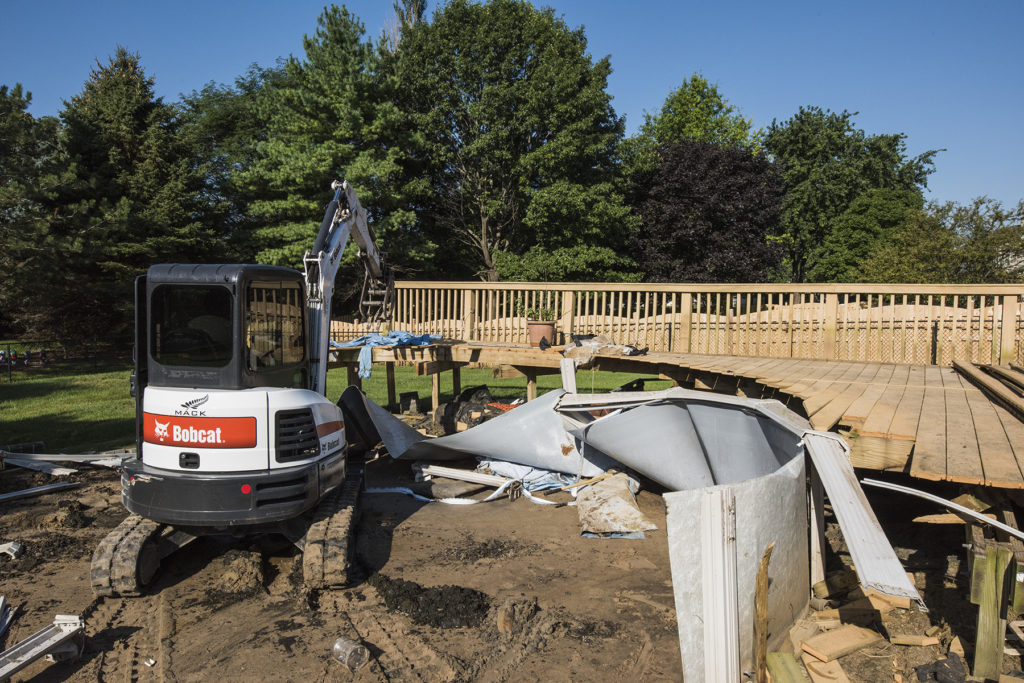 Cary Pool Removal during