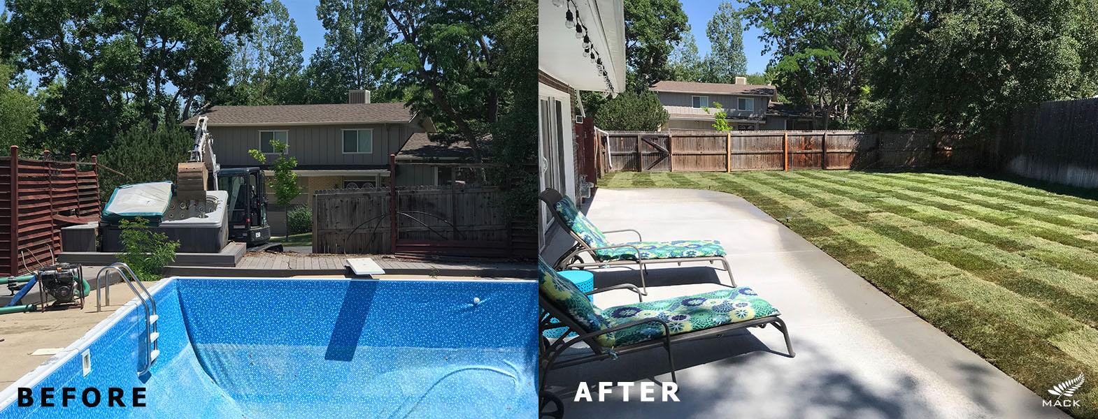 Mack Land LLC - Golden, Colorado Liner Pool Removal