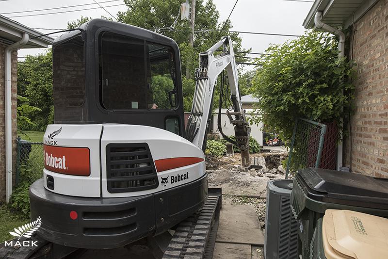 Mack Land Pool Removals Mini Excavator Tight Access