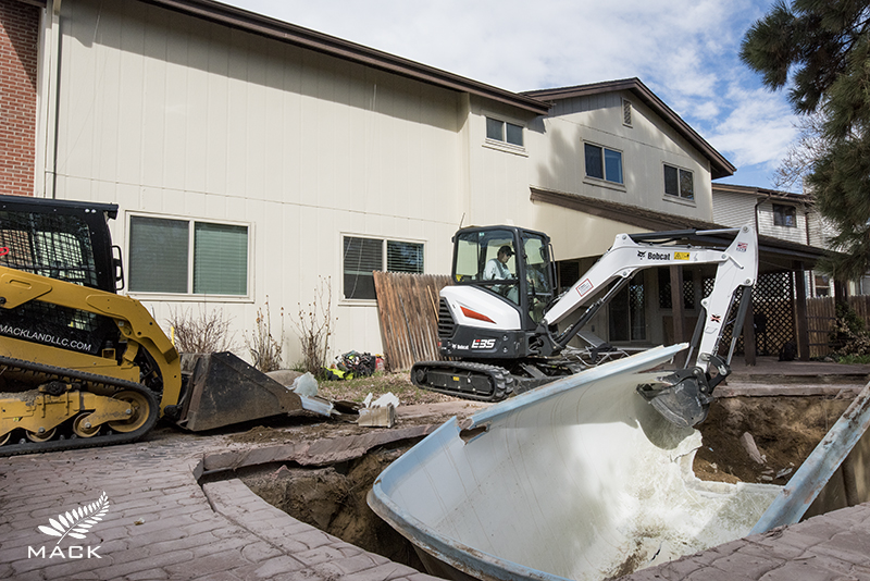 Mack Land LLC - Aurora, Colorado Fiberglass Shell Pool Removal